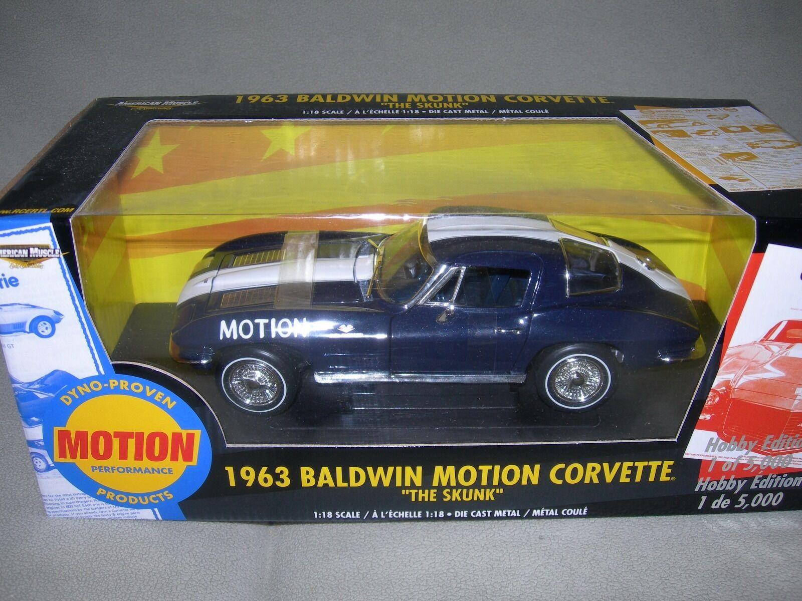Ertl 1963 firma Chevrolet Corvette Stingris Baldwin Motion la mofeta