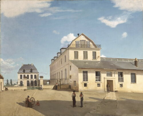 Jean Baptiste Camille Corot House and Factory of Monsieur Henry Canvas Print