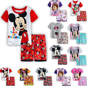 01aa1f01c Kid Boys Girls Minnie Mickey Mouse Summer Outfit Casual T-shirt Top ...