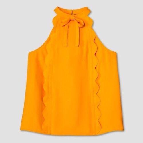 Scallop Tank Marigold Trim S Size X High Beckham Top Target Neck Victoria 18xRHqYnw