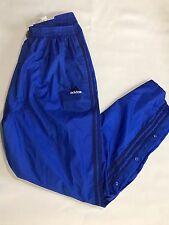 Adidas 90's Vintage Tear Away Warm Up Pants Windbreaker Tracksuit Blue sz XL