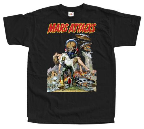 Mars Attacks V16 Tim Burton sci fi movie poster 1996 T Shirt All sizes S-5XL