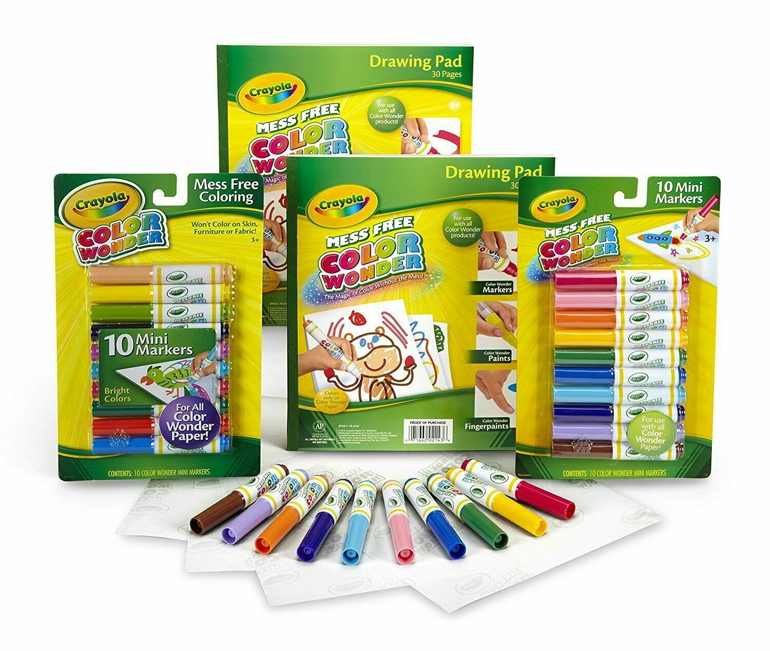 Crayola Airbrush Colour Wonder Set Mess Colouring Boxed For Sale