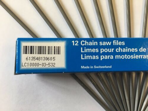 "12 VALLORBE 5//32 4MM ROUND CHAINSAW FILES FOR 3//8/""LP CHAIN HUSQVARNA USERS"