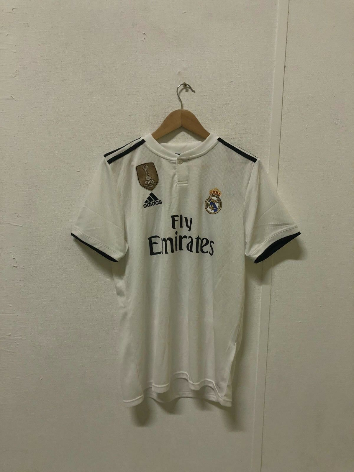 ADIDAS Homme Real Madrid 2018/19 Home Shirt-Medium-BALE Shirt-Medium-BALE Home 11-blanc-Neuf 171718