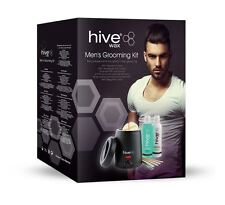 Hive of Beauty Mens Waxing Grooming Kit-Wax Heater,Lotion & Discs