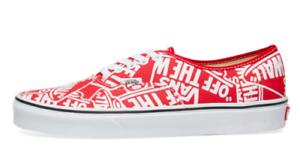 04bac45c39 Details about Vans Men OTW REPEAT Authentic Sneakers, Red/ True White