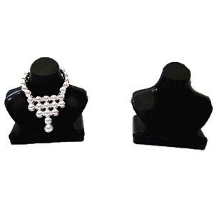 5Pcs Dollhouse miniature black necklace bracket jewelry bracket toy accessor mi