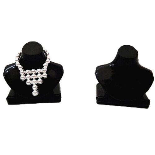 5Pcs Dollhouse miniature black necklace bracket jewelry bracket toy accessoVJJB