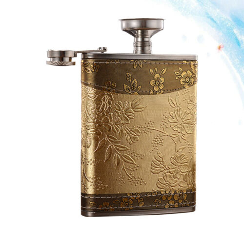 Portable Liquor Whiskey Alcohol Flagon Stainless Steel Hip Flask Wine Bottle