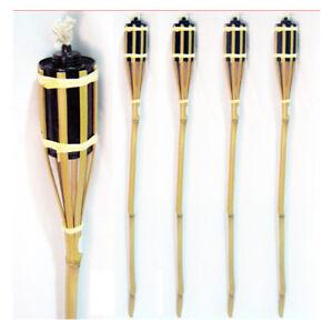 4-Bamboo-Torch-Tiki-Tropical-Decor-Luau-Party-Garden-Light-Outdoor-Lamp-3-Ft-New
