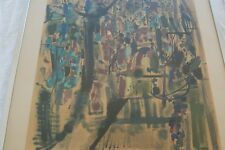 LITHOGRAPHIE D YVES BRAYER SIGNE