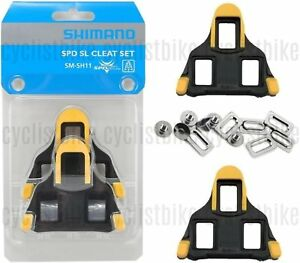 ad8af8e76f0 Genuine Shimano SM-SH11 SPD-SL Road Cleat Set Cleats 6° Yellow w ...