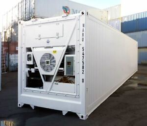 Details about 40 Feet Freezer Container Compact Mobile Cold Storage Cell  Thermo King / Reefer