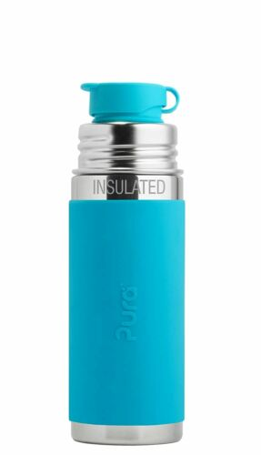 260 ML Stainless Steel Insulated Kids Sport Bottle with Silicone Cap Pura 9 OZ
