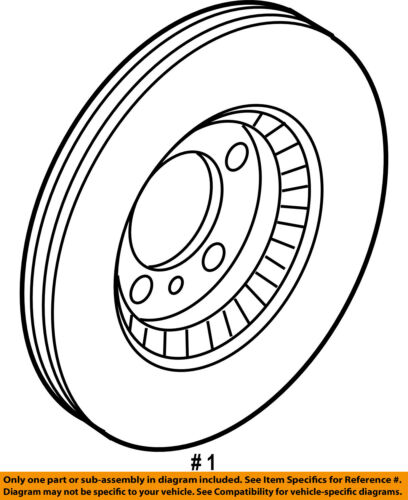 FORD OEM Front Brake-Disc Rotor 9E5Z1125C