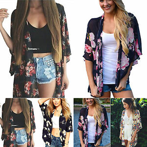 Womens-Boho-Floral-Kimono-Cardigan-Jacket-Ladies-Casual-Loose-Beach-Cover-Up-Top