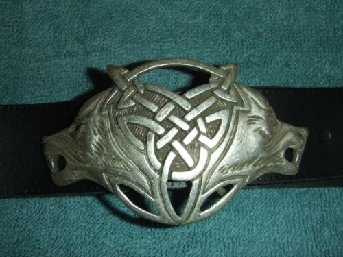 Langgürtel Moyen Age Gothique Celte ne pleure loups Cuir