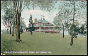 BALTIMORE-MD-Patterson-Park-Casino-Antique-Postcard-Early-Vtg-Old-Maryland-PC