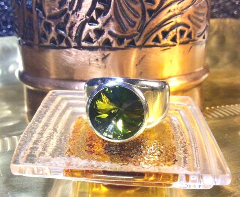 Genuine 925 Sterling Silver Swarovski Element Ring Size 11
