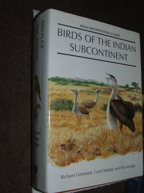 Birds of the Indian Subcontinent by Tim Inskipp Hardback BOOK Helm Identificatio