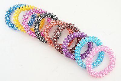 Chouchou Ressort X1 / Bracelet Elastique Spirale Fil Téléphone Mode Tête De Mort