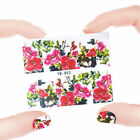 Nail Art Manicure Water Transfer Decal Stickers Flowers & Skull YB953
