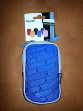 New Vivitar Camera Case Blue Universal camera case Vivitar Stacker Series w