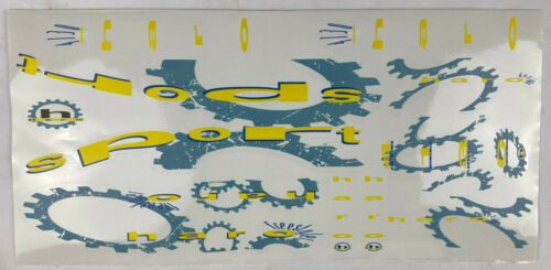 old school bmx decals stickers 92 haro sport decal yellow and blueish on clear