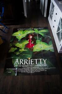 ARRIETTY Ghibli Studio 4x6 ft French Grande Poster Original 2010