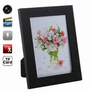 Home Black Picture Frame Spy Security Camera Hidden Motion