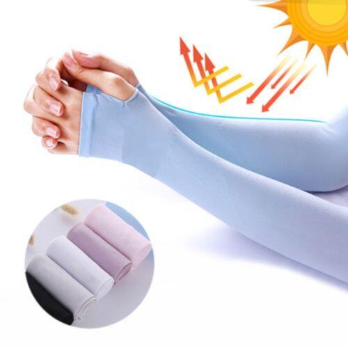Sport Narbe Abdeckung Armstulpen Sonnencreme Sun UV-Schutz Halbfinger Neu