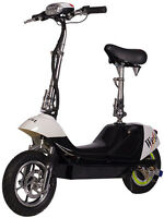 X-treme City Rider 36v Electric Scooter With E-bike Quiet Hub Motor Black