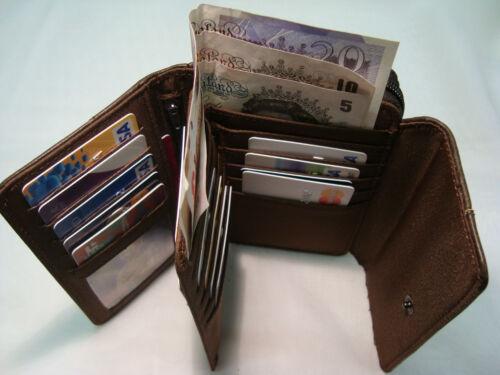 TOP Qualité en Cuir Femmes Sac à Main Portefeuille avec double cartes de crédit section