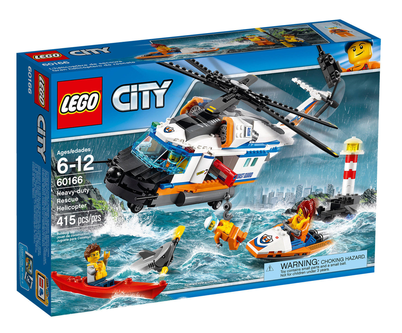 LEGO City 60166  Heavy Duty Rescue Helicopter - Brand New