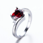 1-6ct-Heart-Cut-Red-Garnet-Engagement-Ring-14k-White-Gold-Over-Trilogy-Solitaire thumbnail 5