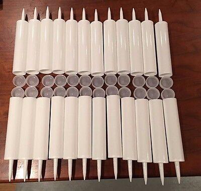 Empty Plastic Caulk Tubes 4-Pack ; Refillable Sealant Caulking Tubes 11-Ounce