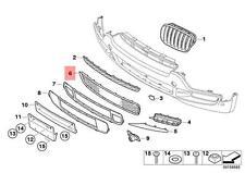 Genuine BMW X5 Front Bumper Center Open Aluminium Matt Grille OEM 51117163957