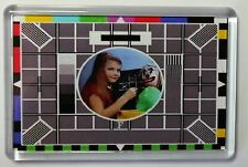 TV TEST CARD FRIDGE MAGNET-  RETRO TV -FREE Postage
