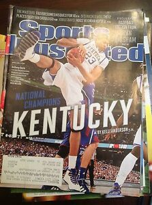 Details About April 9 2012 Kentucky Anthony Davis College Basketball Sports Illustrated Ncaa