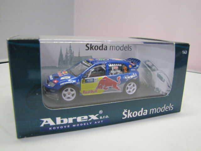Abrex Skoda models - Skoda Fabia WRC - # 12 - Red Bull - 1:43