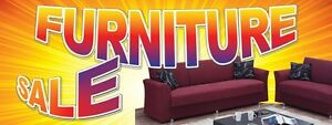 3ft x 8ft Furniture Sale (grnt) Vinyl Banner -Alt to Banner Flag 3'x8' (0094)