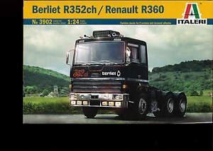 Italeri 1:24 Kit Camion Camion Berliet R352ch Renault R360 Art 3902