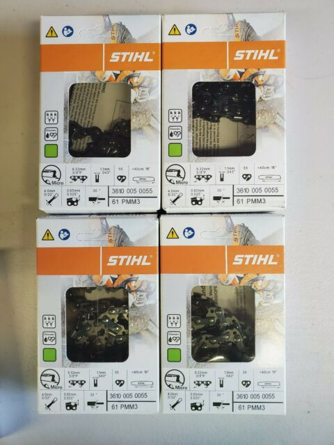 "STIHL PICCO DURO CARBIDE TIPPED 3//8LP-1.3//0.50/"" SAW CHAIN 16/"" 57DL 3612 000 0057"
