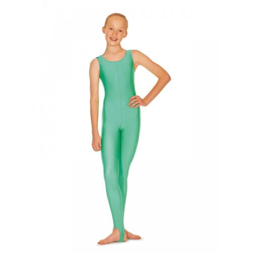 ADAGIO CATSUIT NO SLEEVE WITH STIRRUP SHINY LYCRA SIZES INFANT to LARGE BNWT