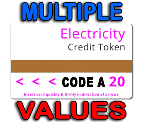 Multiple Values Electric Cards £20