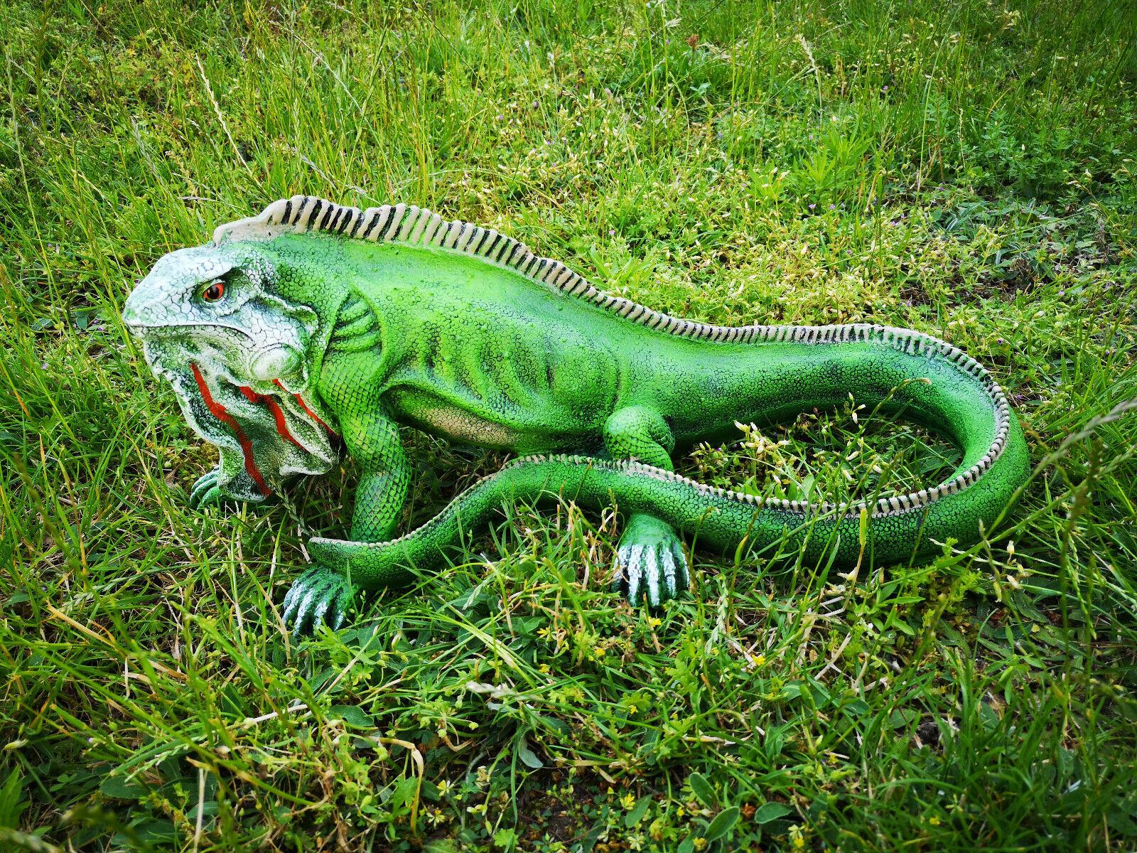 Personaje de jardín jardín dekofigur-DEKO iguana camaleón lagarto 45cm 3374