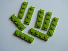 Lego 8 plates vert citron set 7606 41038 7646 7592  / 8 lime plates 1 x 4