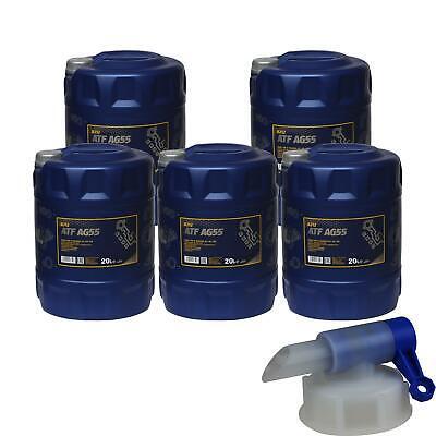 5x 20 L Mannol Olio Atf Ag55 Hydraulic Fluid Automatico Incl. Rubinetto Rubinetto-mostra Il Titolo Originale