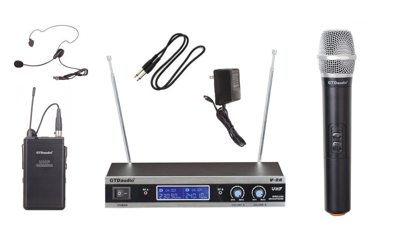 Gtd Audio Uhf De De De Mano Auricular Micrófono Lavalier (corbatero sistema De Micrófono Inalámbrico 502hl 896bfc
